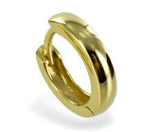 ECHT GOLD *** Herren Single-Creole 14 mm Ø *** Ohrring schlicht glänzend