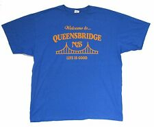 NAS WELCOME TO QUEENSBRIDGE LIFE IS GOOD BLUE T-SHIRT 2XL NEW OFFICIAL ILLMATIC