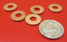 """110 Copper Round Washer,  1/4"""" Screw Size, 5/8"""" OD,  50 Pcs"""