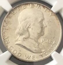 1948 FRANKLIN SILVER HALF DOLLAR-NGC MS-64 FBL -SOME NICE TONE-FREE SHIPPING!!!!