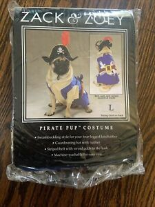 Zack & Zoey Pirate Pup Dog Costume Size Large Yarrrr