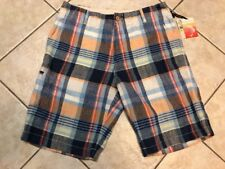 Tommy Bahama Madras to the Max 100% Linen Shorts Mens 46 Maritime Plaid NWT $118