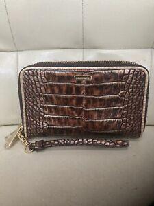 Rare Brahmin Milan Brown Zora Wallet Clutch Wristlet