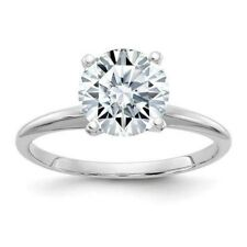 1ct diamond Charles & Colvard MOISSANITE Solitaire engagement bridal ring 14k WG