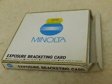 Minolta exposure bracketing  Card  Dynax / Maxxum 7000i 8000i 5000i 7xi 700si