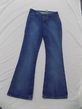 NWOT Mudd Blue Jeans Flare Bell Bottom Button Fly Denim Junior 11 30X32 4DA930