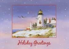 Holiday Greetings Lighthouse 18 Coastal Boxed Christmas Cards