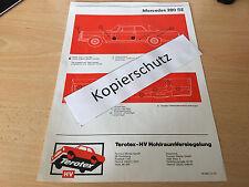 Mercedes W 111 Coupe/Cabrio 220 SE - 280 SE / Terotex Hohlraumversiegelungsplan