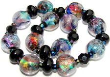 "Sistersbeads ""Stained Glass"" Handmade Lampwork Beads"