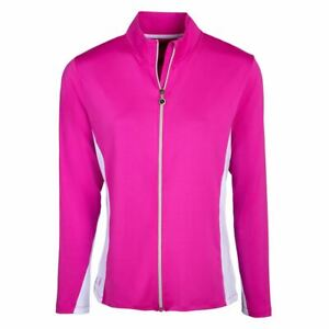 Island Green Golf Ladies Jacket Contrast Full Zip Quick Dry Stretch Top Layer