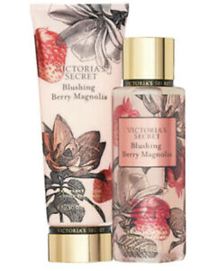 Victoria's Secret BLUSHING BERRY MAGNOLIA Lot of 2 Items Body Lotion Mist NEW