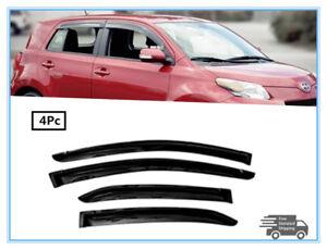 FOR 2008-2012 Scion xD SMOKED WINDOW VISOR WIND DEFLECTOR RAIN GUARDS