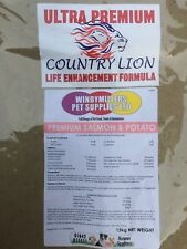 """Gluten Free """"Country Lion"""" Super Premium Dry Complete Dog Food/Feed.15kg Bags."""