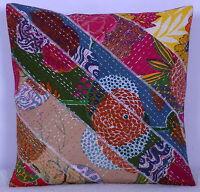 Indien Coton Floral Imprimé Taie Oreiller 40 CM Kantha Coussin Housse