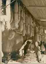 Paris, foire aux jambons, boulevard Richard Lenoir Vintage silver print