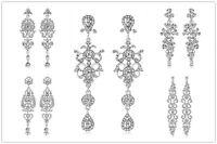 Wedding Bridal Rhinestones Charms White Gold Plated Dangle Earrings Jewelry Gift