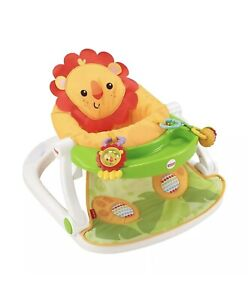 Fisher-Price Sit-Me-Up Floor Seat with Tray Lion NIP Easy Set-up Ready To Go