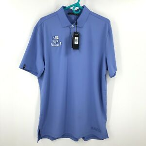 Ralph Lauren Polo Shirt Mens Large Blue Stretch Outdoor Golf RLX Performance *