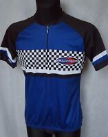 Mens Vintage CAMPAGNOLO Bike Cycling Jersey Top Shirt sz M Medium Black / Blue