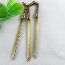 39354 Vintage BronzeTone Zinc Alloy Sword Shank Bookmark 100*11*3mm 4PCS