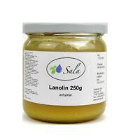(2,92 EUR/100 g) Sala Lanolin anhydrat pestizidfrei Wollwachs Wollfett 250 g Gla