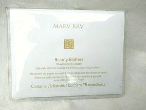 Mary Kay Beauty Blotters Oil Absorbing Tissues (linen) 75 Sheets Free Shipping