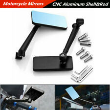 2 Pcs Aluminum Motorcycle ATV Side Rearview Mirrors 6mm/8mm/10mm Bolts Universal