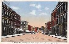 Plattsburgh New York Bridge Street Scene Historic Bldgs Antique Postcard K31906