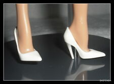 SHOES  MATTEL BARBIE DOLL ROYAL KATE MODEL MUSE WHITE POINT TOE PUMPS HIGH HEELS