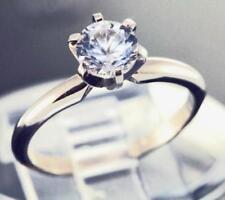 Solitaire White Sapphire Fine Rings