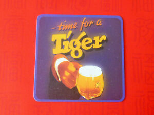 """1 pc. of  Tiger beer """" time for a Tiger """"  Coaster Beer Mat (#29)"""