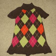 Gymboree Fall Homecoming Argyle Sweater Dress Size 6