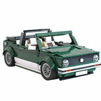 MOC-26778 Golf MK1 Cabrioletr auto car Brick Block Moc Technic Lego compatibile