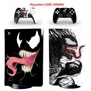 PS5 Disc Skin Sticker for Console Controllers Venom Full Vinyl Design Wrap Decal