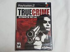 NEW True Crime Streets of LA Playstation 2 Game SEALED PS2 truecrime l.a. NTSC
