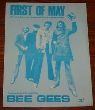 THE BEE GEES ~ FIRST OF MAY ~ VERY RARE ORIGINAL UK SONG MUSIC LYRIC SHEET 1969