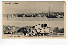 BOOTHBAY HARBOR MAINE PC Postcard J HOWARD RILEY Lincoln County BOATS Sail