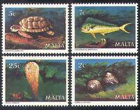 Malta 1979 Fish/Turtle/Sea Shells/Marine Life/Nature/ 4v set (n20737)