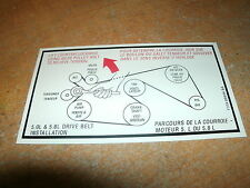 1993 1994 1995 FORD SVT F-150 LIGHTNING 5.8L 351W ENGINE BELT ROUTING DECAL NEW