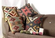 4 set of  Handwoven Kilim Cushion Cover 18x18 Vintage Handmade Jute Rug Pillows