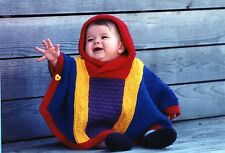 Baby Poncho - Fiber Trends Knitting Pattern CH-10 - Instructions to knit 6mo-4yr
