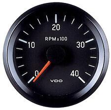 VDO Electronic 12V 80mm Tachometer 0-4000rpm 333 015 038