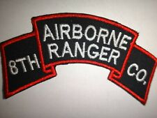 Korea War (1950-53) Scroll Patch Us 8th Ranger Infantry Company (Airborne)