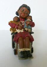 All God's Children Sylvia Dolls & Wheelchair Figurine M. Holcombe #21