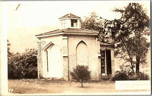 RPPC Alexander Campbell Study Bethany WV Restoration Mvmt Vintage Postcard A53