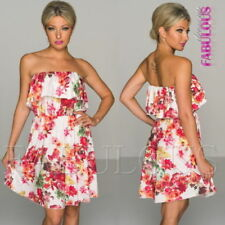 Regular Size Strapless Off the Shoulder Dresses for Women