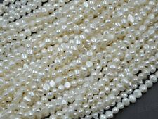 wholesale 10 strands 5-6*7mm white real  freshwater pearl strings