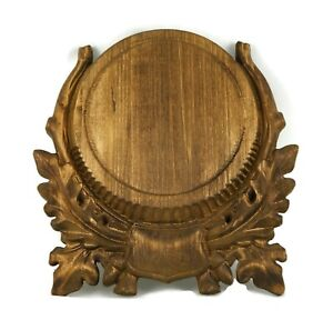Wooden Base Trophy Shield Mounting Plaque For Wild Boar Tusks Handmade