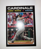 2020 Topps Heritage High Number Yadier Molina Action SP #579 St Louis Cardinals