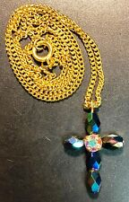 Beautiful Vintage Necklace with Cross Pendant - Great Condition
